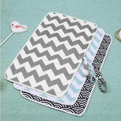 Portable Foldable Washable Baby Waterproof Travel Nappy Diaper Changing Mat Pad* 4