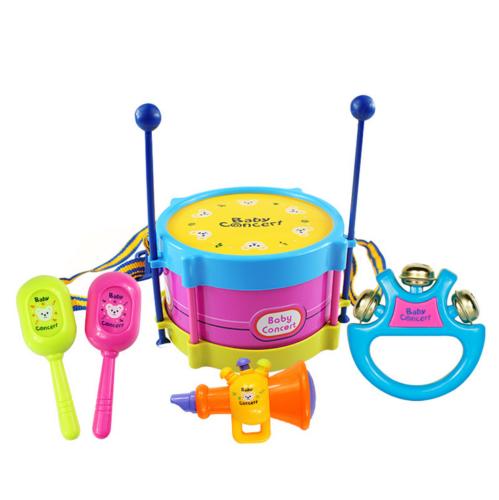 5Pcs/Set Baby Boy Girl Drum Musical Instruments Drum Set Children Toys UK 11