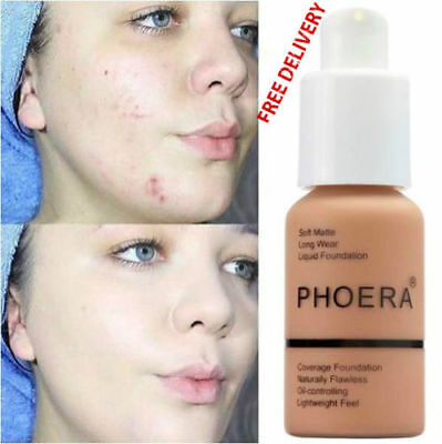 Phoera Perfect Beauty Face Liquid Foundation Base Soft Matte Long Wear Oil 3