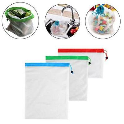 15x Eco Friendly Reusable Mesh Produce Bags Superior Double-Stitched Strength AU 2