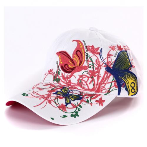 AKIZON Fashion Baseball Cap Hats For Women Snapback Butterflies Flowers FemaLe # 3