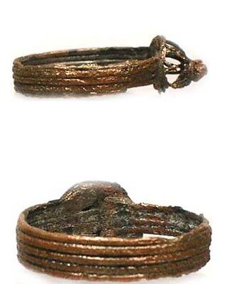 Medieval Roman Byzantine Constantinople Istanbul Intricate Crown Ring AD900 Sz8 4