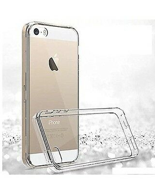 For iPhone SE Case Crystal Clear Rubber Shockproof Protective iPhone 5 5s Cover 6
