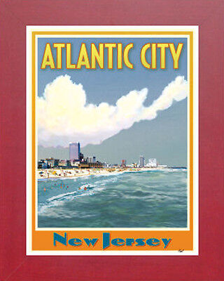 Cape Cod MA Lighthouse-Vintage Art Deco Style Travel Poster-by Aurelio Grisanty