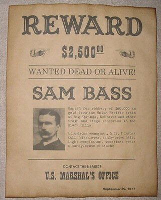 6 Old West Wanted Posters Outlaw Billy the Kid Jesse James Soapy Smith, more 7