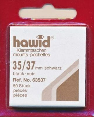 Hawid Stamp Mounts Cut to Size - Black or Clear -  Post Free & SAVE