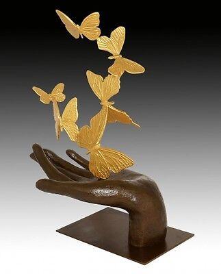 Moderne Kunst Skulpturen moderne kunst skulptur - flying away, schmetterlinge - signiert milo