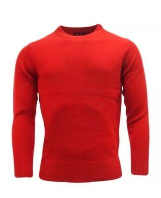 Mens Plain Colour Knitwear Sweater Jumper Pullover Crew Neck Long Sleeve TopBNWT 3
