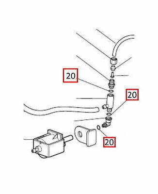Delonghi guarnizione valvola acqua ferro da stiro PRO1860 Stirella VVX1100 8040 3