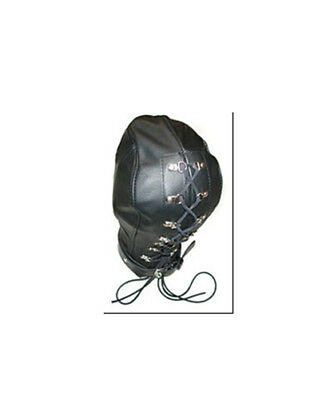 Bondage-Isolationsmaske aus Leder ohne Sehmöglichkeit 2