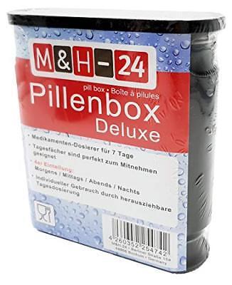 Pillendose 7 Tage Pillenbox Pillenturm Tablettenbox Medikamentenbox schwarz 4