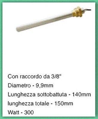 Candeletta racc. 3/8 300 W Lung 140 150 d. 9,9 mm stufa pellet UNGARO CS THERMOS 2