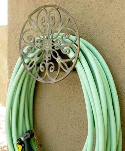 Garden Decorative Cast Aluminum Wall Mounted Hanger 125-Foot Antique New 2