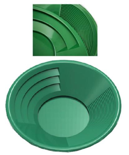 "14"" Green Plastic Gold Pan Nugget Mining Dredging Prospecting River Panning 2"