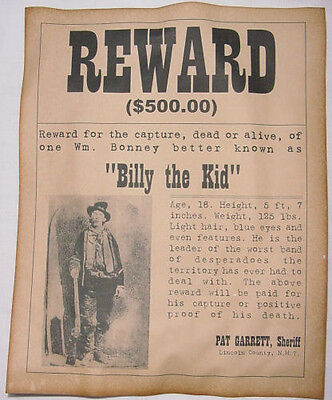 6 Old West Wanted Posters Outlaw Billy the Kid Jesse James Soapy Smith, more 2