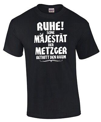SEINE MAJESTÄT DER METZGER Sweatshirt Spruch Meister Fleischer Schlachter RUHE