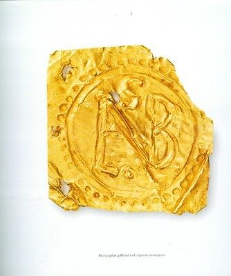 "500AD Medieval Byzantine Lombard Italy ""Barbarian"" Gold Sheet Jewelry Ornaments 2"