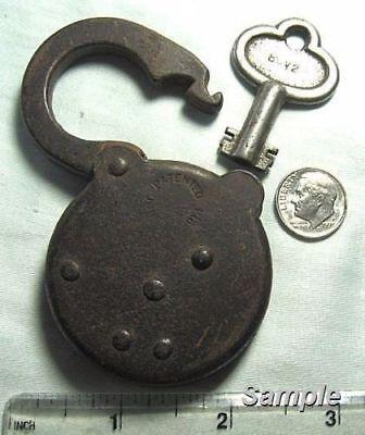 RARE ANTIQUE EAGLE LOCK 6 LEVER PADLOCK KEY BLANK EAGLE BARREL KEY BLANK 1800/'s