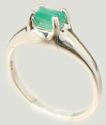 Emerald Ring ½ct+ Antique 19thC Siberian Medieval Chastity Honesty Intelligence 3