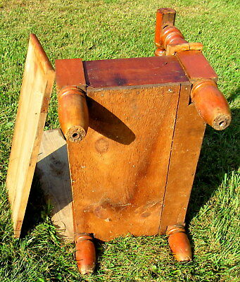 vtg large wooden shoe shine stand primitive unique (LOCAL PICKUP ONLY) 7