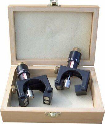 2pcs Magnetic Planer Blade Setting Jig Gauge Setter Woodworking Tool + Wood Case 5