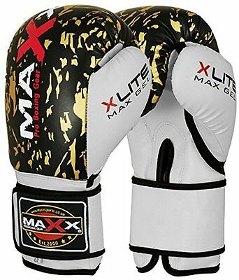 Maxx® Boxing Gloves Punch Bag Training MMA Muay Thai KickBoxing Fight Sparring U 9