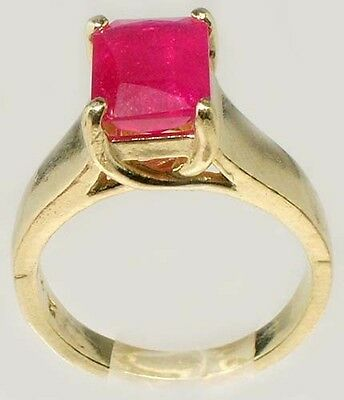 Antique 19thC 3¼ct+ Red Ruby Solid 14kt Gold Ancient Roman Judicial Talisman 6