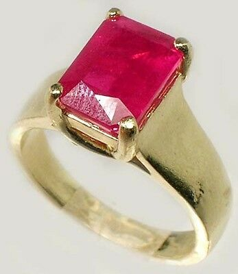 Antique 19thC 3¼ct+ Red Ruby Solid 14kt Gold Ancient Roman Judicial Talisman 3