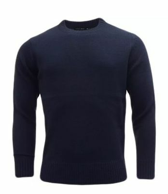 Mens Plain Colour Knitwear Sweater Jumper Pullover Crew Neck Long Sleeve TopBNWT 4