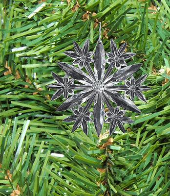 KURT S ADLER CLEAR ACRYLIC CRYSTAL SNOWFLAKE CHRISTMAS TREE ORNAMENT STYLE B