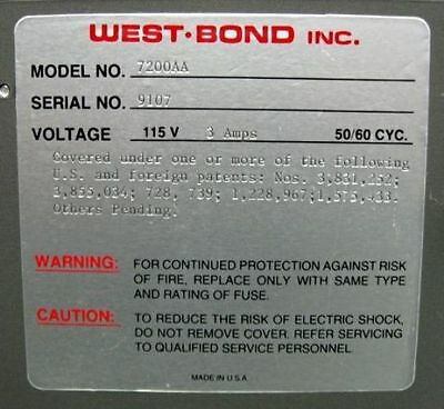 C97037 West-Bond Westbond 7200AA Pick & Place Epoxy Die Bonder (refurbished) 5