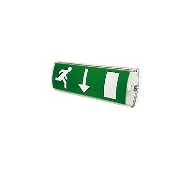 1 x 27 LED Emergency Exit Bulk Head Fitting 3 hour Non-Maintained IP65 - 5 Watt