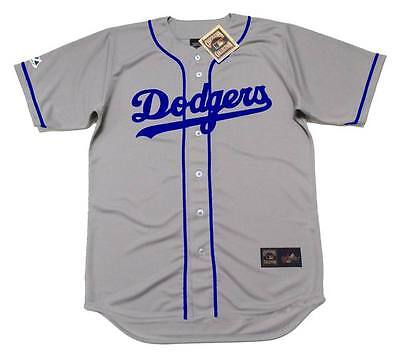 wholesale dealer be0d5 1a569 JACKIE ROBINSON BROOKLYN Dodgers 1955 Majestic Cooperstown Away Baseball  Jersey