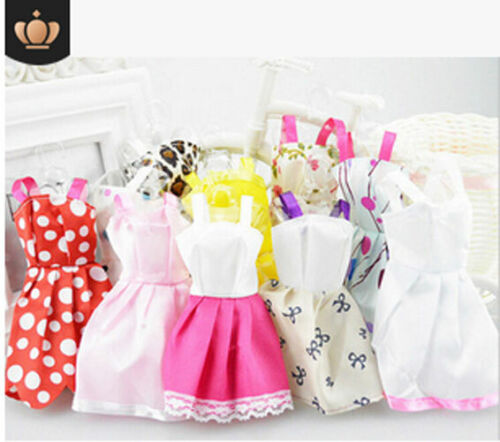 10 Pcs Dresses for Barbie Doll Fashion Party Girl Dresses Clothes Gown Toy Gift. 8
