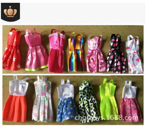 10 Pcs Dresses for Barbie Doll Fashion Party Girl Dresses Clothes Gown Toy Gift. 7