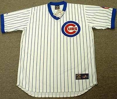 promo code 725eb 02d60 RYNE SANDBERG CHICAGO Cubs Majestic Cooperstown Throwback Home Baseball  Jersey