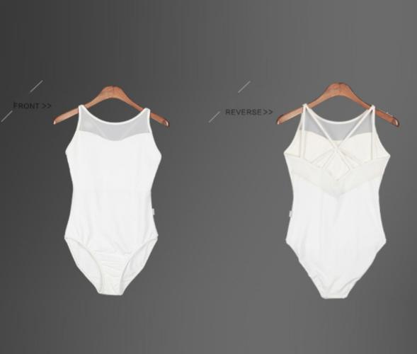 Black Leotard.UK White Cross Ballet Dance Bodysuit 6-15 Y Gymnastic Dancewear