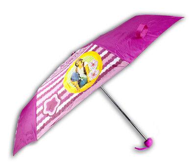 Ombrello piccolo bambina rosa nero mondo di patty pioggia custodia laccio bimba 3