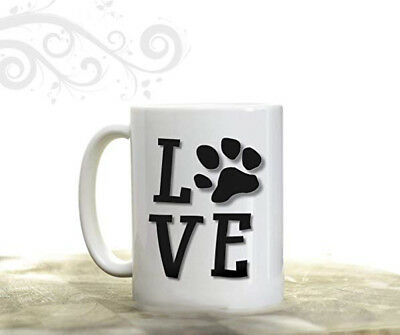 Personalised Dog Cat Lover Photo Mug Custom Coffee Cup Pet Paw Print Gift 2