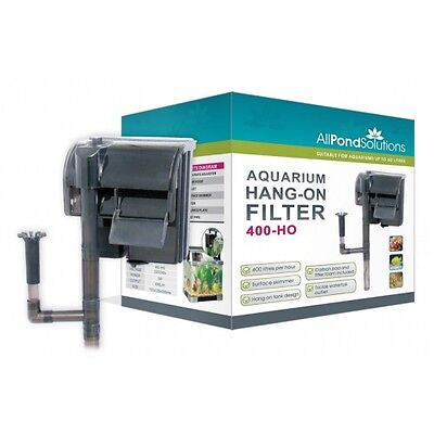 External Aquarium Fish Tank Hang On Filter 400 L/H New 400-HO