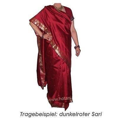 Sari rosa Goldbrokat Bindi Wickelanleitung Kleidung Indien Tracht 2