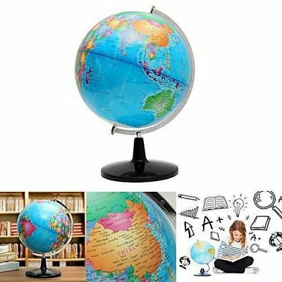 32cm World Globe Map Blue Ocean Geography Educational Toy Gift With Swivel Stand 2