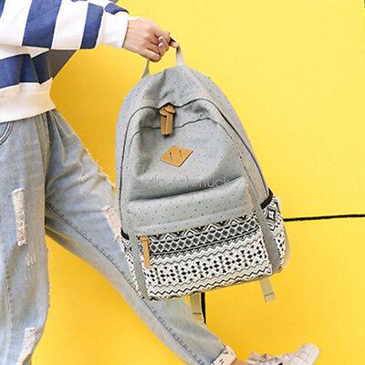801c91b4a7d5 9 of 11 3pcs Set Backpack Women Canvas Travel Bookbags School Bags for Teenage  Girls Hot