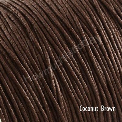 5m x1mm Waxed Cotton Thread Cord Beading Macrame String Bracelet Necklace DIY 9