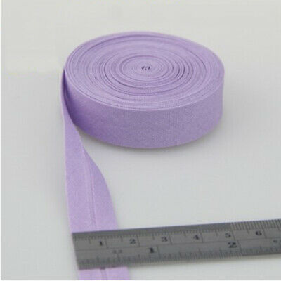 100% Cotton Bias Binding Tape Folded 16mm Wide 5/8 Inch Trimming/Edging/Quilting 9