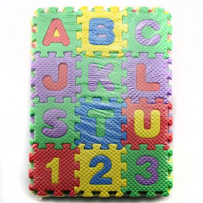 36x unisex Puzzle Kid educativo juguete Letras alfabeto de espuma **