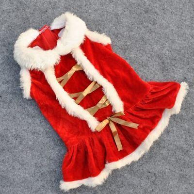 Pet Dog Puppy Santa Shirt Christmas Clothes Costumes Warm Jacket Coat Apparel 2