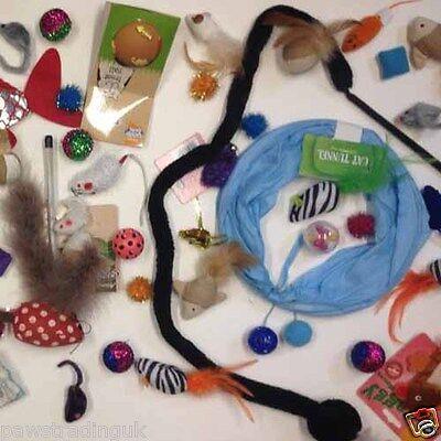 New Bulk Buy Cat Kitten Toys Rod Fur Mice Bells Balls  Catnip 10  items BARGAIN 3