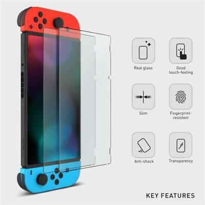 2 Pack Nintendo Switch Console PREMIUM TEMPERED GLASS Screen Protector Cover 4