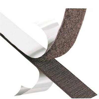 SELF ADHESIVE or SEW ON Hook and Loop Fastener Tape Black White Sew or Stick on 4